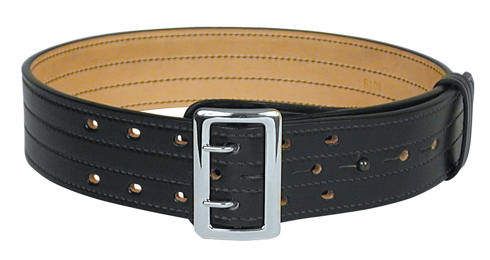 B101-A SAM BROWNE BELT W/4-ROW STITCHING